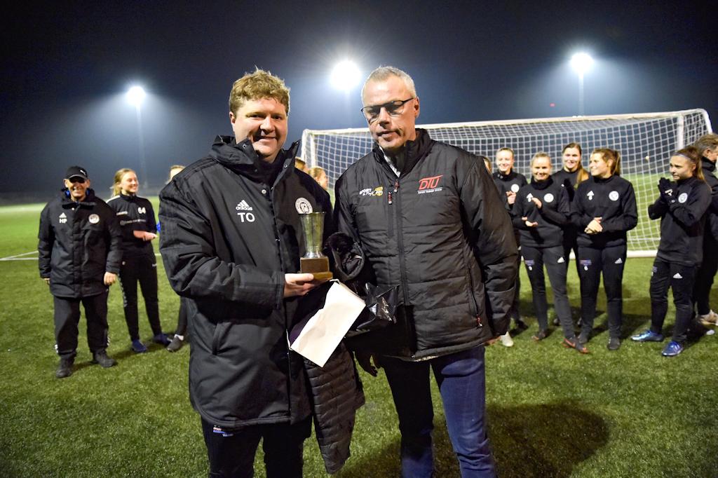 Torben Overgaard, træner for F.C. Thy – Thisted Q's kvinder, blev Årets jyske Træner 2018